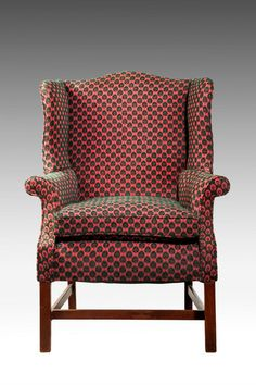 Chippendale Design Mahogany Wing Chair