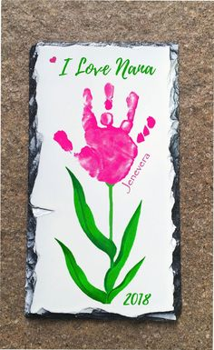 #valentines day decorations for classroom toddlers Baby Hand and Footprint Flower Slate using child's actual print!  Handprint art gift for Mom, Grandma, loved ones! Choose any Shop Design! #valentines day gift for mom