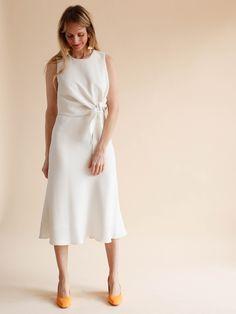 SVILU - Knot dress - Crepe Ivory