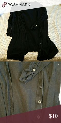 **SALE** Black cardigan Worn and used many times, but still in good condition! Bought from target Sweaters Cardigans