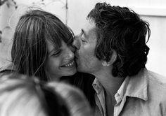 Serge Gainsbourg with Jane Birkin by Tony Frank