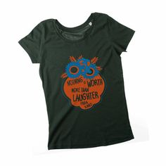 Frida Kahlo Quote Flower Frame Organic cotton artwear t-shirt by Rooftop | $28