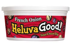HOMEMADE version of Heluva Good french onion dip: it's so good and you know exactly what went into it! I use light sour cream as the base and add the following to taste: salt (about 1/2 tsp), dill weed (fresh or dried) (about 1/2 tsp dried), dried scallions (about 1 tsp), dried onion flakes (about 1 tbsp), garlic powder (about 1tsp). Just keep adding the spices listed until it tastes the way you want it. Pair with the 40% less fat cape cod potato chips.