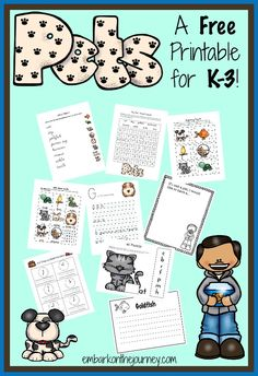 """There are 40+ activity pages in this brand new """"Pets"""" printable for grades K-3! 