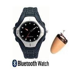 kit espion sans fil montre bluetooth inductive + écouteur espion