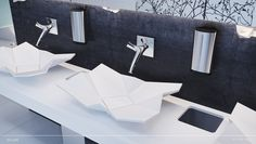 Origami countertop washbasin by Eumar
