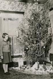 vintage tinseled tree