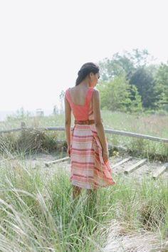 Multi-Panel Pleated Skirt