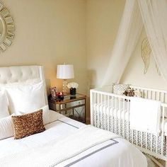Master Bedroom and Nursery Combo, Transitional, Bedroom