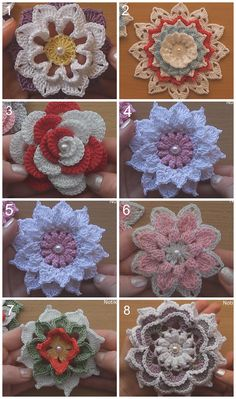 Today we are going to look at 10 gorgeous flowers and learn the ways to crochet them all. These flowers share some similarities in their style and its because Crochet Puff Flower, Crochet Flower Tutorial, Crochet Flower Patterns, Love Crochet, Crochet Gifts, Irish Crochet, Crochet Designs, Easy Crochet, Crochet Flowers