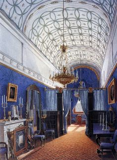 The Suite of Empress Alexandra Feodorovna at the Winter Palace in Saint Petersburg - The Dressing Room / a quite interesting century interior decoration Alexandra Feodorovna, Imperial Palace, Imperial Russia, Royal Palace, Versailles, Romanov Palace, Palazzo, Russian Architecture, Architecture Interiors