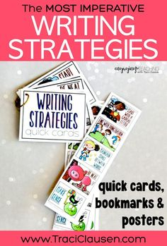 These reading and writing strategies posters, bookmarks and quick cards are such a huge hit with my kiddos! Love how engaging they are!