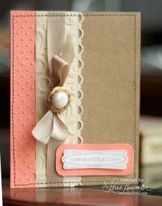 DIY stitched card with button
