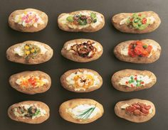 Do it yourself potato bar... Perfect for the kids