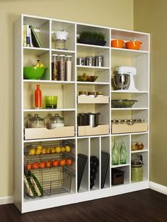 Kitchen shelving for pantry expansion // pantry organizing