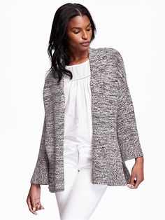 awesome Chunky-Knit Open-Front Kimono-Sleeve Cardigan for Women | Old Navy