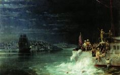 Night. Tragedy in the Sea of Marmara - Ivan Aivazovsky - Completion Date: 1897