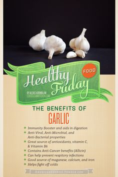 Healthy Food Friday: Garlic // Benefits of, how to peel,. Informations About Healthy Food Friday: Garlic Benefits, Vegetable Benefits, Healthy Life, Healthy Eating, Healthy Food, Healthy Meals, Mexican Food Recipes, Healthy Recipes, Fall Recipes