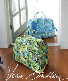Vera Bradley Weekenders in NEW Doodle Daisy and Lime's Up  - Available March 22