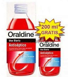 ORALDINE ANTISEPTICO 400ML + 200 ML GRATIS  La tradicional calidad del antiséptico bucal Oraldine, con un envase de 200 ml. adicional, de regalo, TODO POR 6,90€  http://bit.ly/1k9otZS