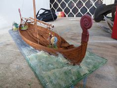 """breaking surf on """"Revell Viking Ship Finished"""" from Dux Homunculorum"""