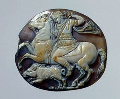 Alexander hunting boar. Italy. 1st century CE