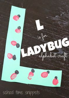 School Time Snippets: L is for Ladybug Preschool Alphabet Craft: Cute way to learn the letter L!  Pinned by SOS Inc. Resources. Follow all our boards at pinterest.com/sostherapy for therapy resources.