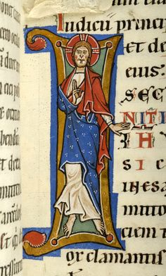 Christ within initial I | Gospel book | Austria, probably in the monastery of Seitenstetten | between 1225 and 1275 | The Morgan Library & Museum