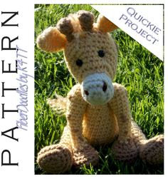 ~ Crocheted as directed with F hook, models which have been produced are approximately 12 inches tall. However, depending on your crochet style, this measurement may/will vary. ~