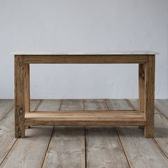 """A clean, marble top pairs with rustic legs of recycled mango wood to form this stately console with simple lines.- Marble, reclaimed mango wood- Indoor or outdoor use- Wipe clean with dry cloth- Assembly required- Imported28""""H, 48""""W, 18""""D"""