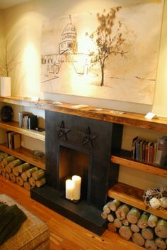 Cool faux fireplace