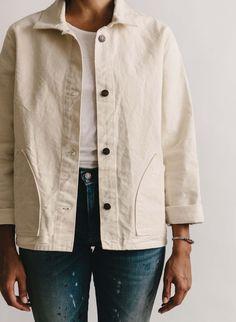 Agnes chore coat - Looks - Men Coats For Women, Jackets For Women, Casual Wear, Men Casual, Casual Styles, Summer Coats, Summer Jacket, Pulls, Minimalist Fashion