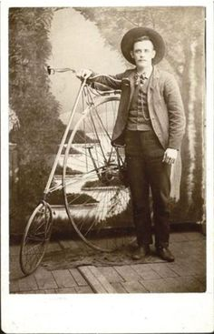 ca. 1860-80's, [cabinet card, portrait of a gentleman, identified in pen verso as John Renner, posed with his Star safety bicycle], Lewis Most  via Be-hold, Fine Photographs