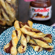 Nutella Puff Pastry Swirls