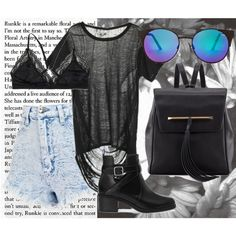 Summer's Grunge by tarahshay on Polyvore featuring Pull&Bear, B Brian Atwood, Quay and Talula