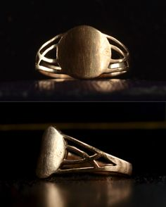 1920s Little Deco Signet Ring, 10K, Size 5.5 (sold)