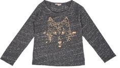 T-Shirt with Metallic Wolf Detail