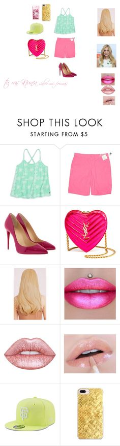 """""""star new outfit"""" by miliorobb on Polyvore featuring Gap, Christian Louboutin, Yves Saint Laurent, Jeffree Star, Lime Crime, New Era, Casetify and ban.do"""