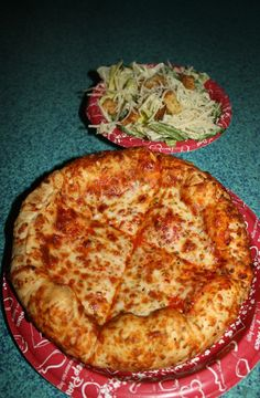 Cheese Pizza and Side Salad from Pizzafari in Animal Kingdom
