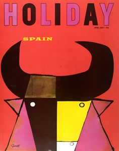 cMag107 - Holiday Magazine cover by George Giusti / Spain Issue / April 1965