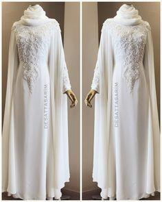 what does a muslim wedding dress look like Wedding Abaya, Muslim Wedding Gown, Muslimah Wedding Dress, Muslim Wedding Dresses, Cute Wedding Dress, Wedding Dresses For Sale, White Wedding Dresses, Wedding White, Beautiful Dress Designs