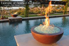 Not only do we have various shapes, sizes and colors, but our fire bowls and fire pits come with their own burner system.