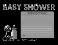 Baby Bling - Baby Shower Notes of Advice
