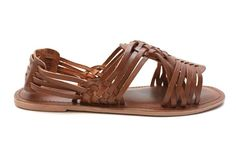 Andrina Vintage Style Leather Sandals in tan
