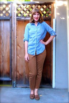Made By Meg: Office Staple: Camel-Colored Cropped Pants