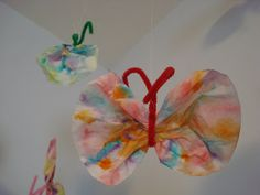 sycamore stirrings: Coffee Filter Butterflies - Tutorial