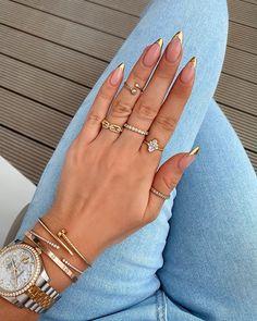 KLAUDIA BADURA (@klaudiabadura) • Instagram photos and videos Laura Badura, Luxury Lifestyle Women, Latest Nail Art, Luxury Nails, Gold Tips, Nail Technician, Easy Nail Art, French Nails, Summer Nails