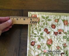 "TUTORIAL - Hanging a small quilt (up to 36"") quickly, invisibly, and flush to the wall!"