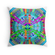 Spaceship - Throw Pillow Cover - http://annumar.com/en/designs/spaceship-throw-pillow-cover