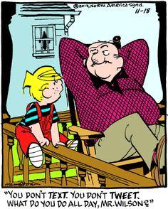 Dennis the Menace Cartoon for Nov/18/2013